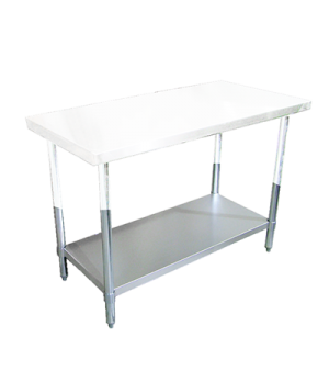 "(22100) Standard Series Undershelf, 96""W x 24""D, galvanized with weled V pipe le"