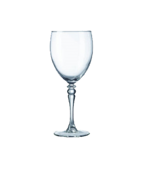"Goblet Glass, 10-1/2 oz., fully tempered, glass, Arcoroc, Siena (H 7-5/16""; T 2-"