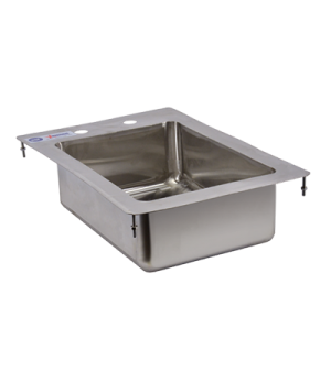 "(39779) Drop-In Sink, one compartment, 10"" wide x 14"" front-to-back x 5"" deep, 3"