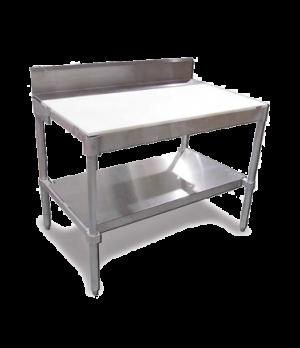 "(14355) Polytop Table Frame, 30""D x 36""W, with 6"" stainless steel backsplash, al"