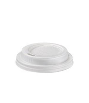 Disposable Cup Lid, (6.3 cm), for disposable cup (Q3000), biodegradable/composta