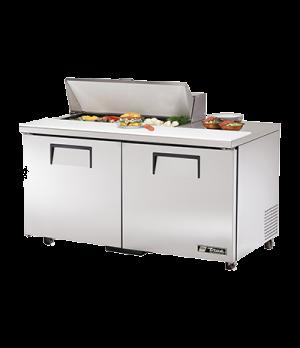 "ADA Compliant Sandwich/Salad Unit, (10) 1/6 size (4""D) poly pans, stainless stee"