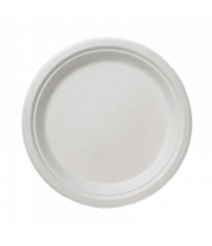 """Disposable Plate, 7"""" dia. (18 cm), round, biodegradable/compostable, cellulose p"""