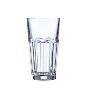 "Cooler Glass, 16 oz., fully tempered, Arcoroc, Gotham (H 6-1/4""; T 3-1/2""; B 2-1"