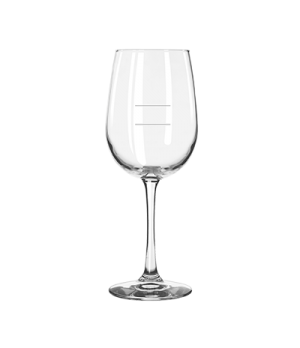 "Wine Glass, 16 oz. capacity, 9"" H, stem, with pour lines, Safedge® Rim & Foot Gu"