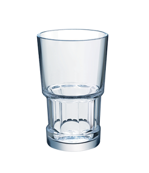 "Hi Ball Glass, 16 oz., glass, Arcoroc, Tribeka (H 5-1/2""; T 3-1/2""; M 3-1/2""; B"