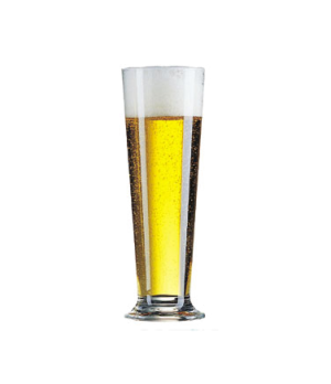"Pilsner Glass, 13-1/2 oz., glass, Arcoroc, Linz (H 8-1/8""; T 2-3/4""; B 2-11/16"";"