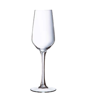 "Flute Glass, 6 oz., glass, Arcoroc, Lineal, (H 7-3/8""; M 2-1/2"")"