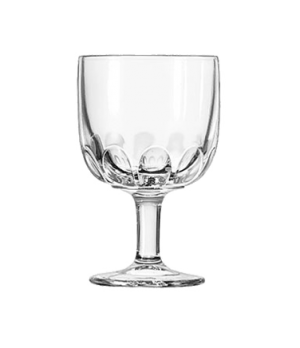 "Goblet Glass, 12 oz., HOFFMAN HOUSE, (H 6-1/8""; T 4""; B 3-1/4""; D 4"")"