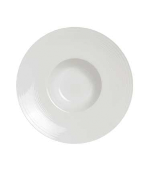 "Soup Plate, 7-1/2 oz., 9-1/2"" dia. (4"" well), round, rimmed, porcelain, Rene Ozo"
