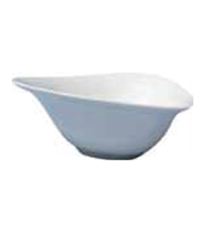 "Bowl, 12 oz. (380ml), 7"" (17-1/2 cm), triangular, butterfly, scratch resistant,"