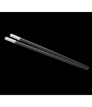 Chopstick Set, black with silver-plated tip, WNK (USA stock item) (minimum = cas