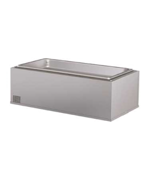 Built-In Heated Well, rectangular, insulated, (4) 1/3 size pan cap., top mounted