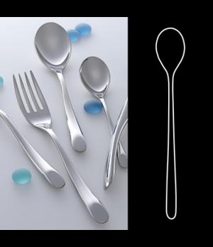 "Iced Tea Spoon, 7-1/4"", 18/10 stainless steel, WNK, Harlan (USA stock item) (min"