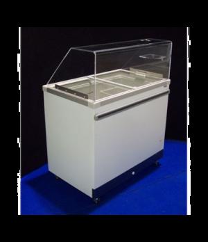 Ice Cream Cabinet, (10) tub or (5) basket capacity, 15.43 cu. ft., sliding glass