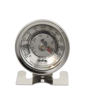 "Refrigerator/Freezer Thermometer, 2-3/8"" dial, 2-3/8""H, temperature range -30°"
