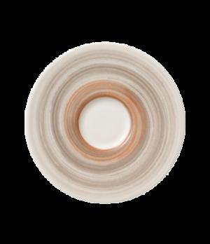 """Saucer, 4-3/4"""" dia., round, premium porcelain, Amarah Taupe"""