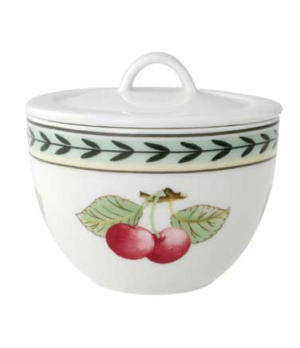Sugar Bowl, 7-1/2 oz., with cover, premium porcelain, French Garden-Dampierre (S