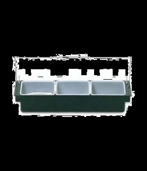 """Condiment Dispenser, three (1) quart inserts, 19-5/8""""W x 6-1/4""""D x 3-3/4""""H, drop"""