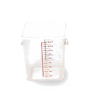 "Space Saving Container, square, 12 qt, 11-5/16""L x 10-1/2""W x 7-3/4""H, -40°F/-40"