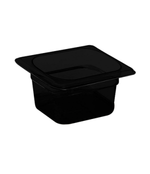 "H-Pan™, 1/6 size, 6"" deep, hi-temp plastic, polysulfone, non-stick surface, won'"