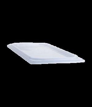 Food Pan Cover, 1/9 size, flat, translucent polypropylene, NSF