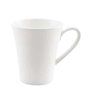 (0155) Fusion Mug, 9-1/4 oz. (28.0 cl), embossed, bone china, microwave safe