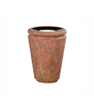 "Milan Series Ash/Trash Receptacle, 18"" dia. x 24"" H, covered top with tuscan urn"
