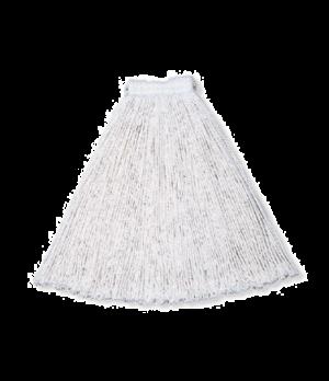 "Economy Mop Head, #24, cotton yarn, 5"" headband, all-purpose, white"