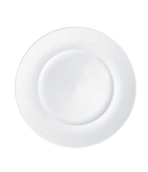"Plate, 11-3/8"" x 7-1/8"" well, flat, premium porcelain, Marchesi"