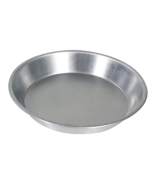 "Pie Plate, 9"" dia. x 1-1/4""H, 1.0 mm thickness, aluminum"