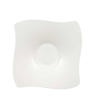 "Saucer, 6-2/3"" x 6-3/4"", (Order OCR -1319), premium bone porcelain, New Wave Pre"