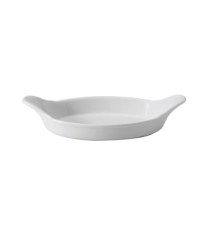 "Dish, 14-1/2 oz. (429ml), 10"" (25 cm), oval, eared, Oven to Tableware"