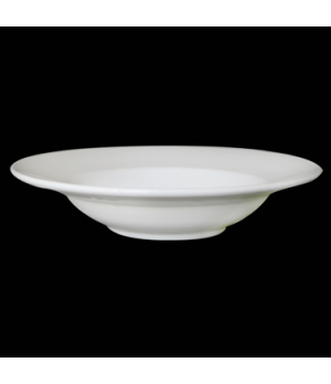 "Bowl, 10 oz., 9-1/4"" dia., round, rimmed, bone china, Tria (minimum = case quant"