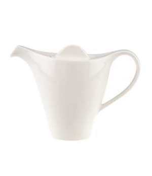 Coffeepot #7, 10-1/4 oz., with lid, premium porcelain, Dune (DE Stock)