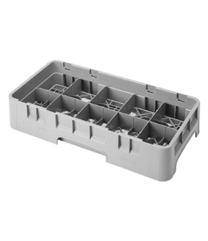 "Camrack® Cup Rack, half size, 9-7/8"" x 19-3/4"" x 4"", 10 compartments, 4-1/8"" x 3"