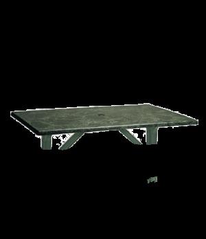 "Indoor/Outdoor Table Top, 48"" x 32"", rectangular, with umbrella hole, burn, stai"