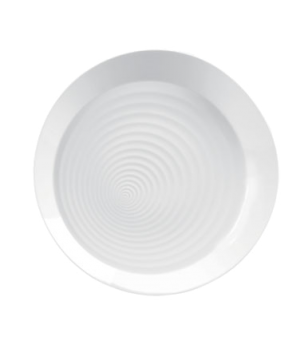 Ethereal Platter, round, dishwasher safe, bone china, white