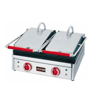 "Axis Panini Toaster, dual split top, 20.1"" W x 17"" x D x 10.6"" H, all stainless"