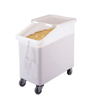 Ingredient Bin, mobile, 27 gallon capacity, 1-pc seamless polyethylene bin, 2-pc