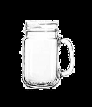 "Drinking Jar, 16-1/2 oz., plain panels, COUNTY FAIR, (H 5-1/4""; T 2-5/8""; B 2-1/"