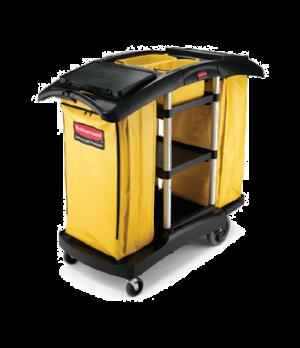 "Double Capacity Cleaning Cart, 51-3/4"" L x 22"" W x 44"" H, 5 cu. ft, lock 'n go b"