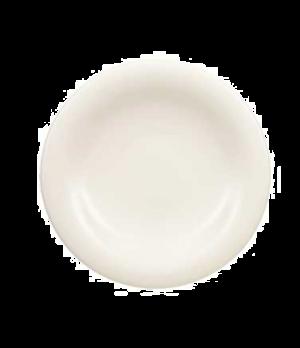 "Plate, 6-1/4"", flat, premium porcelain, Dune"