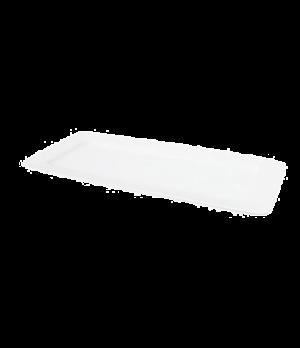 "Plate, 12-3/4"" x 5-1/4"" (32 cm x 13 cm), rectangular, wide rim, scratch resistan"