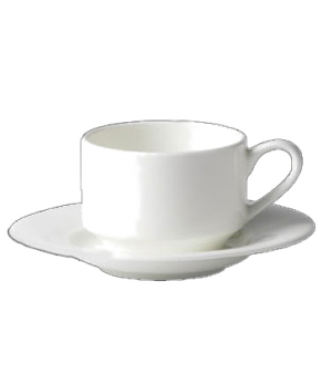 (18970) Fusion Cup, 6-3/4 oz. (20.0 cl), large, embossed, stackable, bone china,