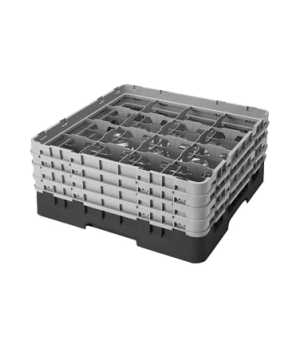 "Camrack® Glass Rack, with 4 extenders, full size, 16 compartments, 4-3/8"" max. d"