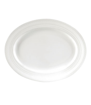 "Intaglio Platter, 13"", dishwasher safe, bone china, white (priced per case, pack"