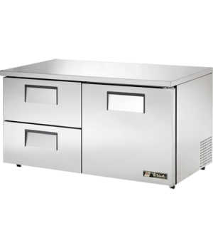 Low Profile Undercounter Refrigerator, 33-38° F, stainless steel front, top & si