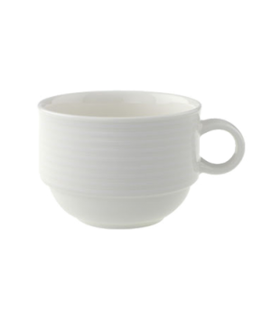 Cup, 7-1/2 oz., stackable, premium porcelain, Perimeter