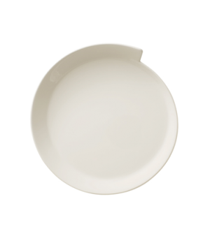 "Salad Plate, 9-3/4"", large, round, premium porcelain, New Wave"